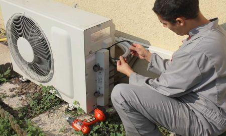 Installation d'une pompe à chaleur air/eau